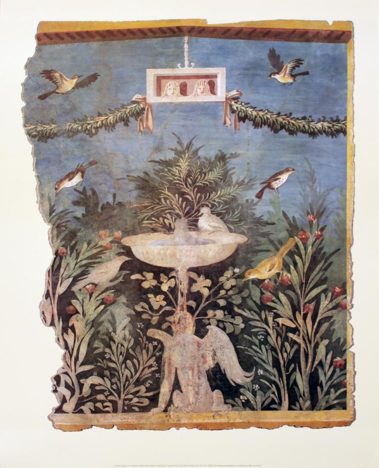 Center Panel of a Garden Scene - 1996