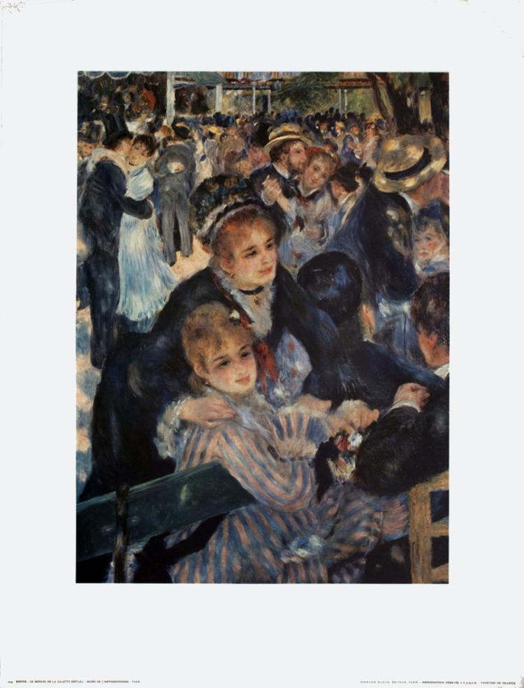 Pierre-Auguste Renoir - La Moulin de la Galette (Detail)
