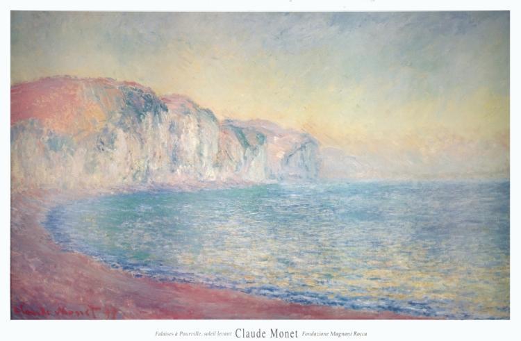 Claude Monet - Falaises a Pourville, Soleil Levant - 1992