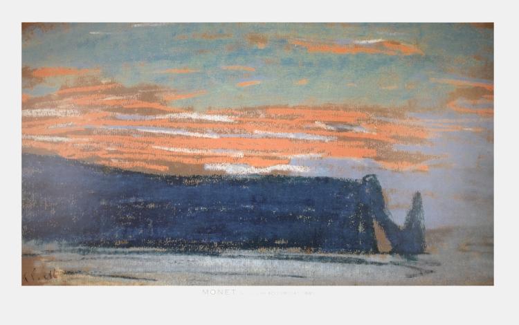 Claude Monet - La Falaise D'Etretat - 1997