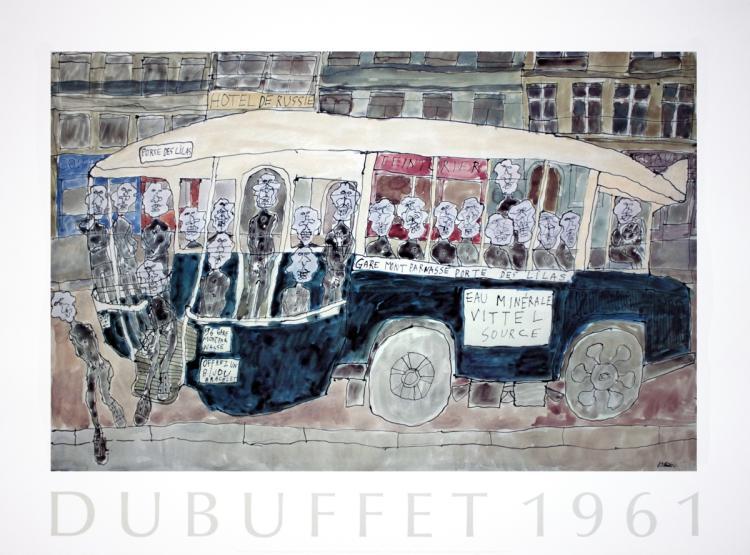 Jean Dubuffet - Autobus Gare Montparnasse, Porte des Lilas - 1990