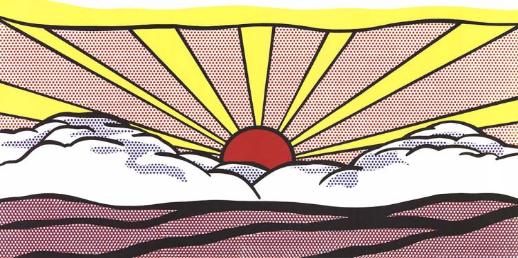 Roy Lichtenstein - Sunrise - 2012