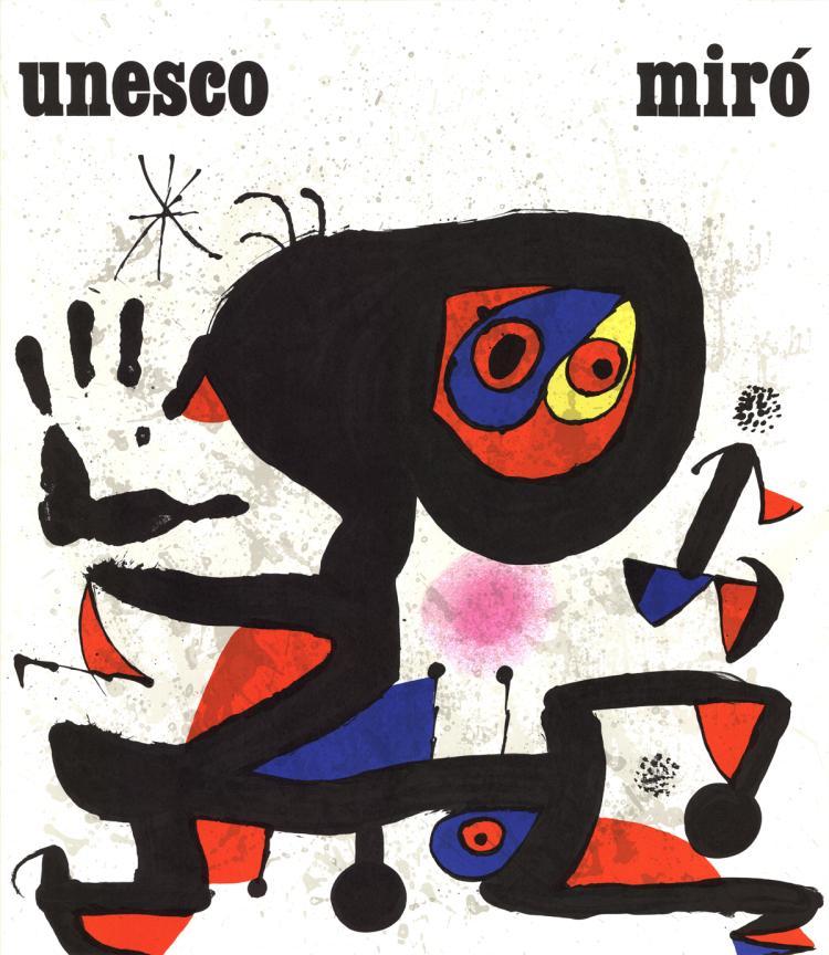 Joan Miro - Unesco-Droits de L'Homme - 1974