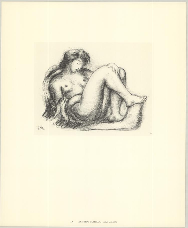 Aristide Maillol - Nude on Sofa - 1974