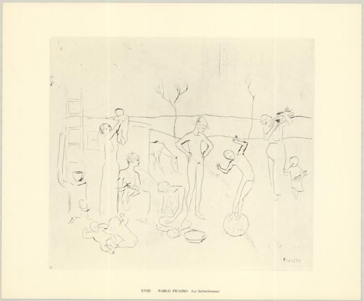 Pablo Picasso - Les Saltimbanques - 1974