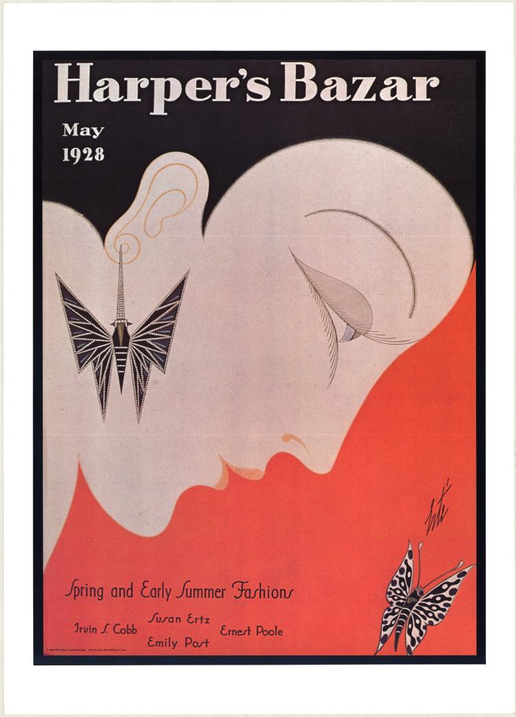 Erte - Harper's Bazar Cover - 1975