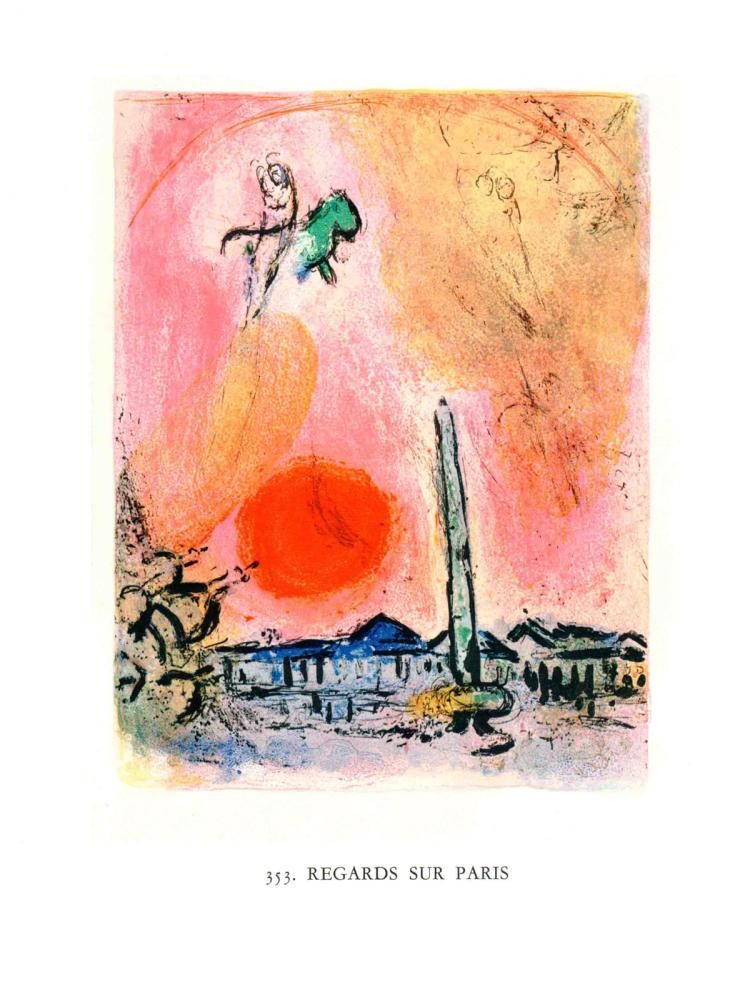Marc Chagall - Regards sur Paris. - 1963