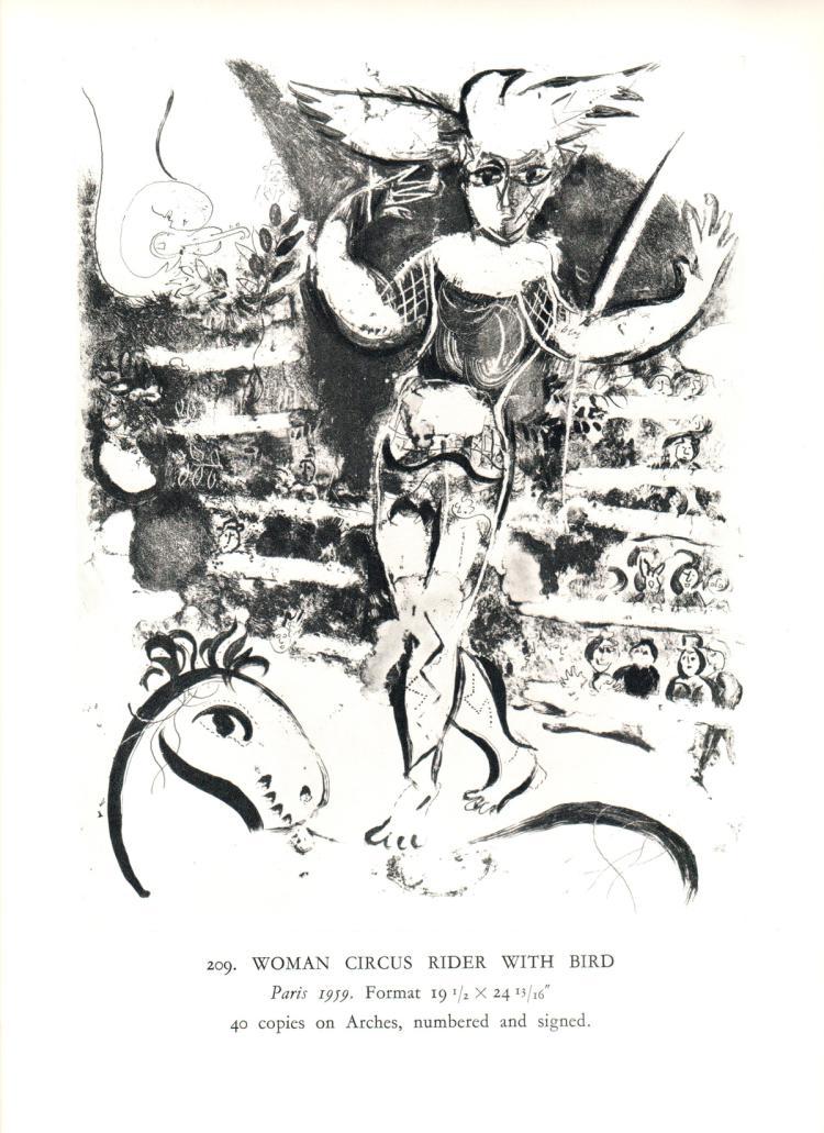 Marc Chagall - Ecuyere a l'Oiseau - 1963