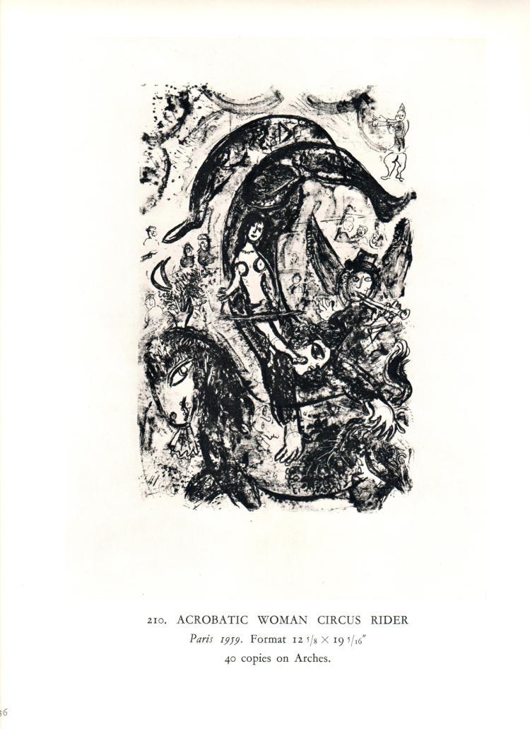 Marc Chagall - Ecuyere Acrobate - 1963