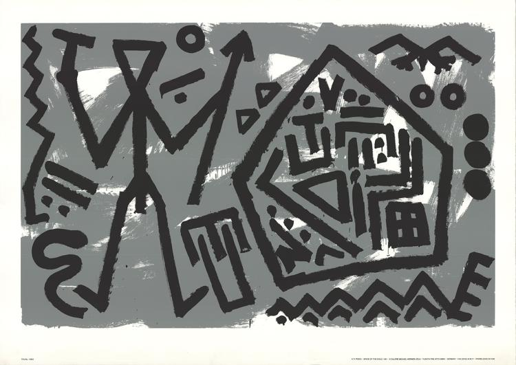 A.R. Penck - Space of the Eagle - 1981