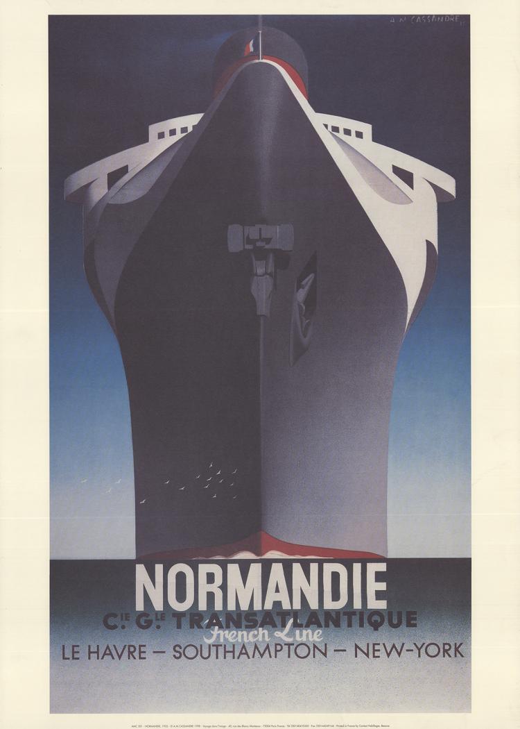 A.M. Cassandre - Normandie - 1998