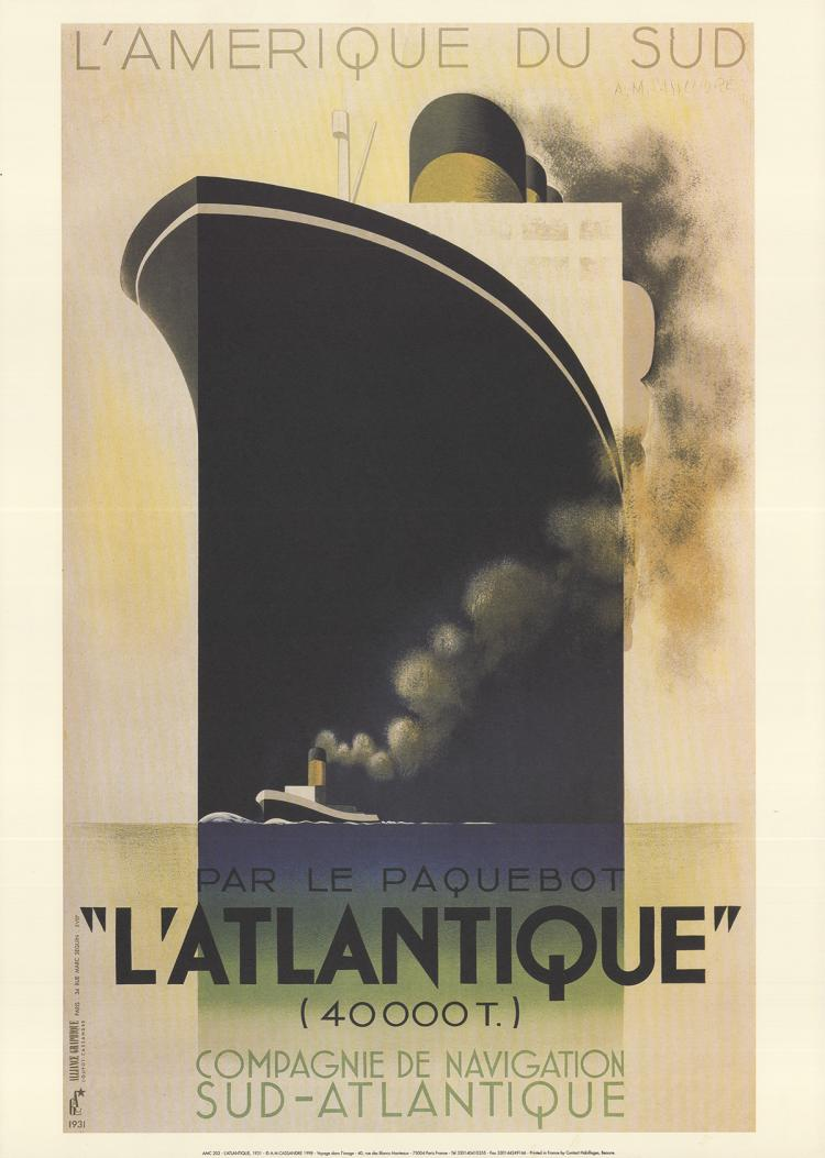 A.M. Cassandre - L'Atlantique - 1998
