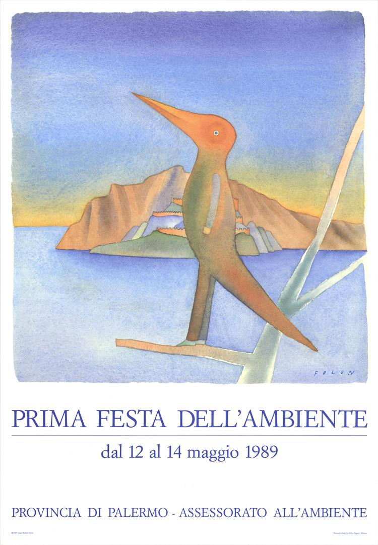 Jean-Michel Folon - Prima Festa Dell'Ambiente - 1989