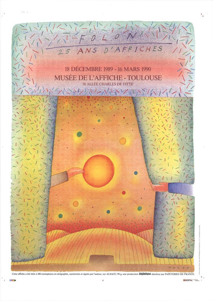 Jean-Michel Folon - 25 Ans d'Affiches - 1989