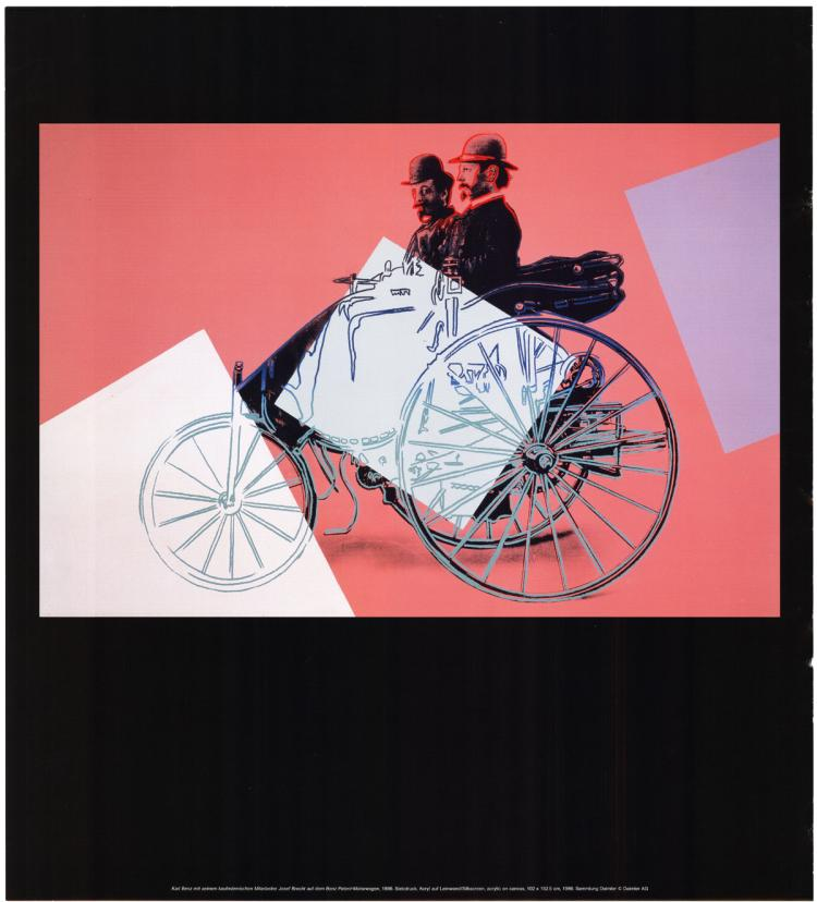 Andy Warhol - Karl Benz with Employee Josef Brecht on the Benz Patent Motor Car