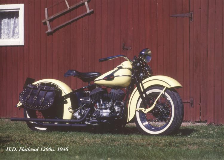 Forlag Hakan Eriksson - Harley Davidson Flathead1200c 1946