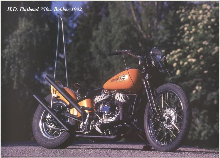 Forlag Hakan Eriksson - Harley Davidson Flathead 750cc Bobber 1942