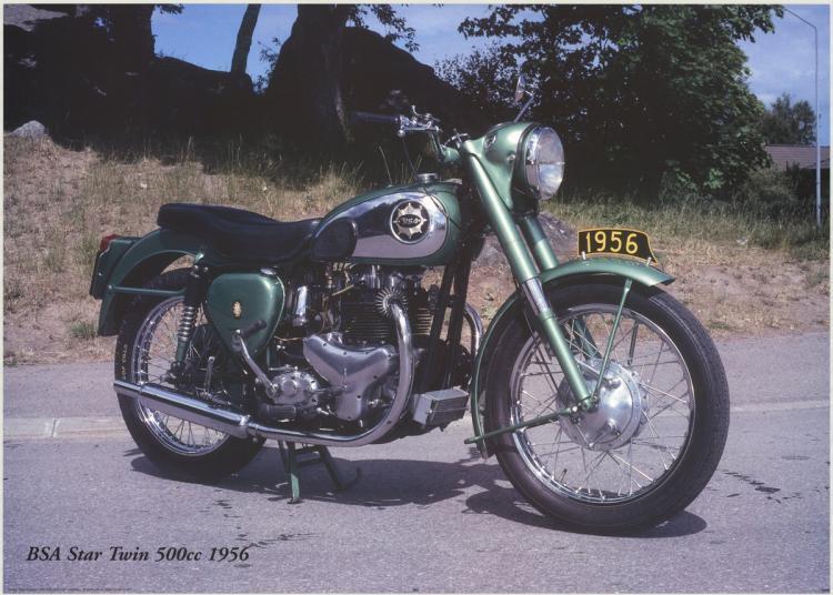 Forlag Hakan Eriksson - BSA Star Twin 500c 1956