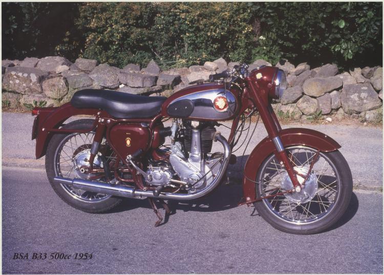 Forlag Hakan Eriksson - BSA B33 500c 1954