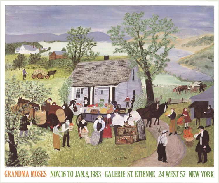 Grandma Moses - Moving Day on the Farm - 1983