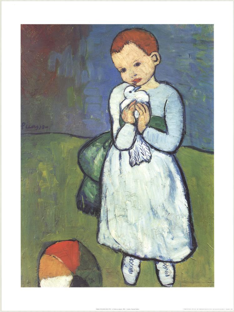 Pablo Picasso - L'enfant au Pigeon - 1992
