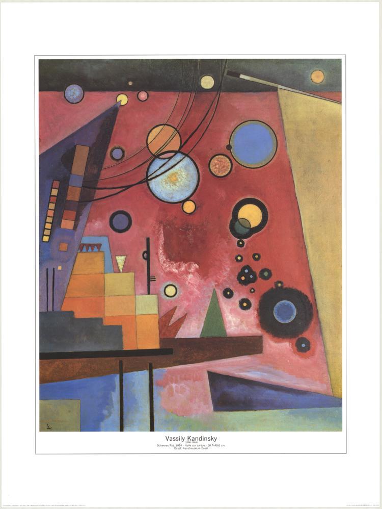 Wassily Kandinsky - Schweres Rot - 1989