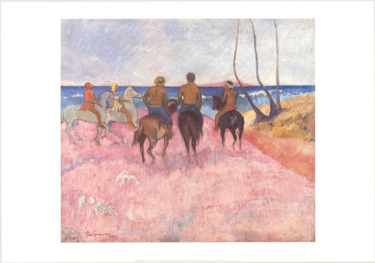 Paul Gauguin - Horsemen on the Beach - 1999