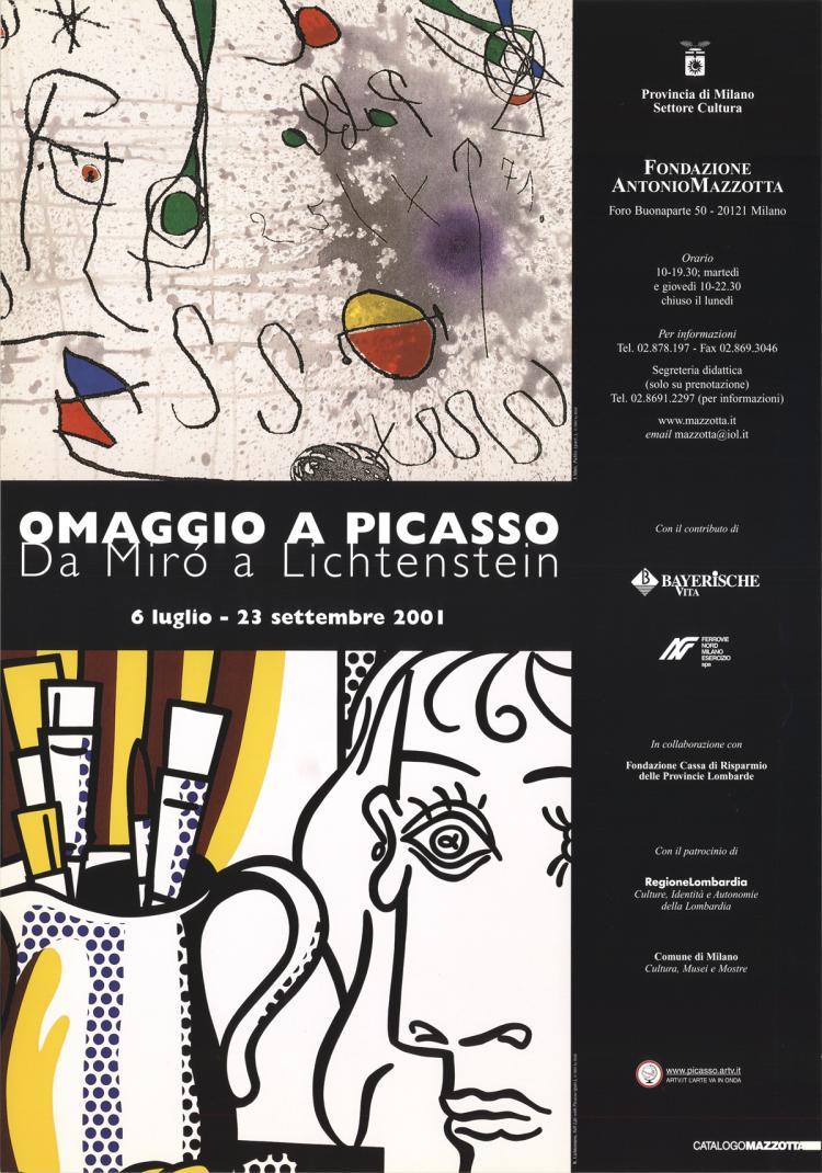 Lichtenstein & Miro - Homage to Pablo Picasso - 2001