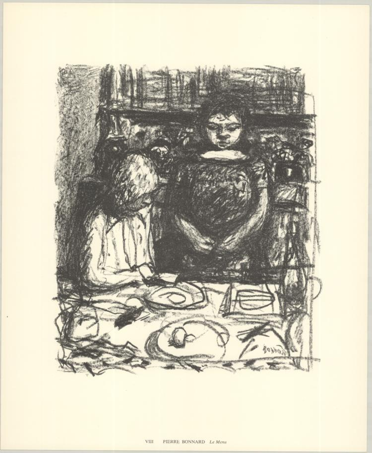Pierre Bonnard - Le Menu - 1974