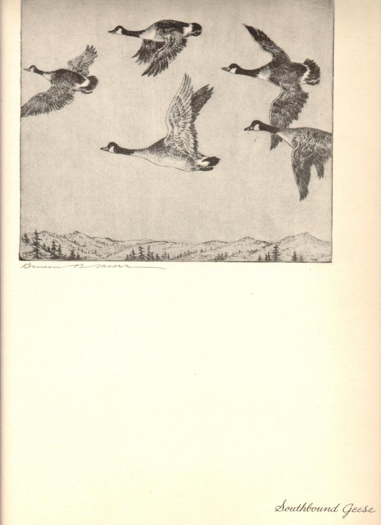 Benson B Moore - Southbound Geese - 1936