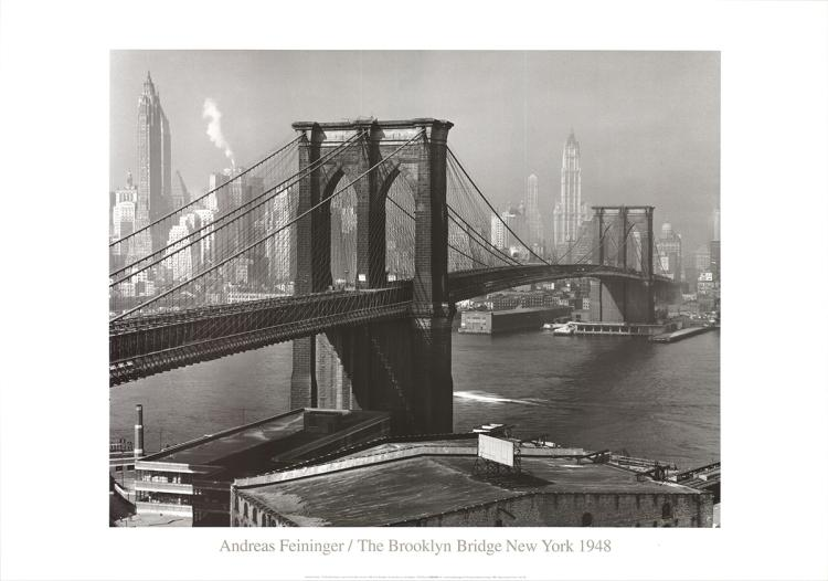 Andreas Feininger - The Brooklyn Bridge as Seen from Brooklyn (1948)