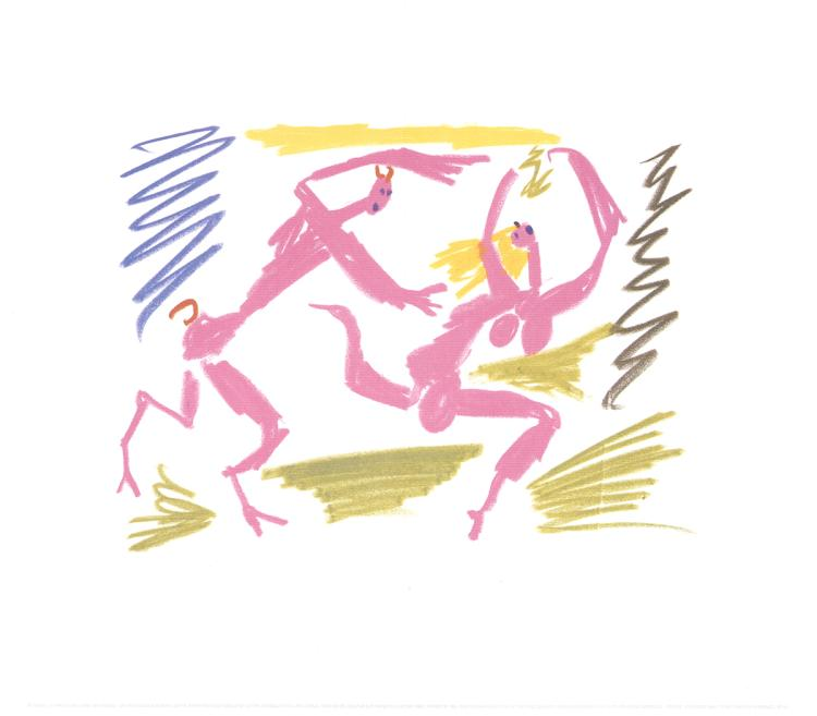 Pablo Picasso - Satyr Chasing Woman - 1988