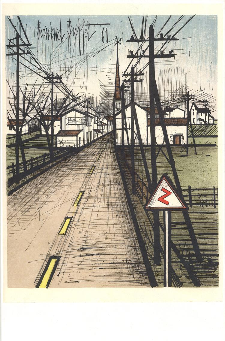 Bernard Buffet - The Road to the village