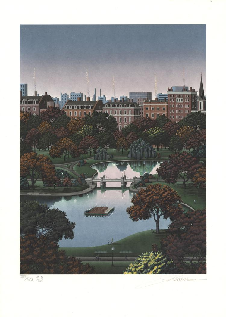Jim Buckels - Boston Public Gardens - SIGNED