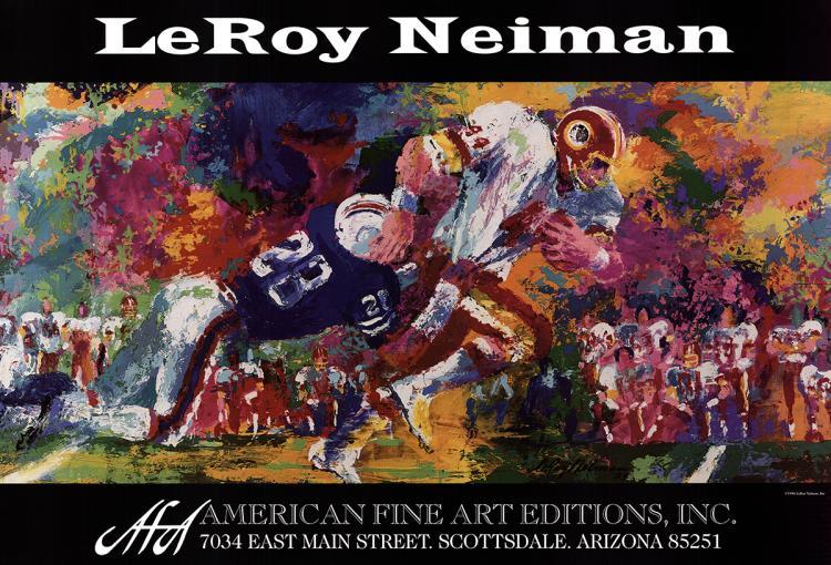 Leroy Neiman - Super Bowl XVII - 1996