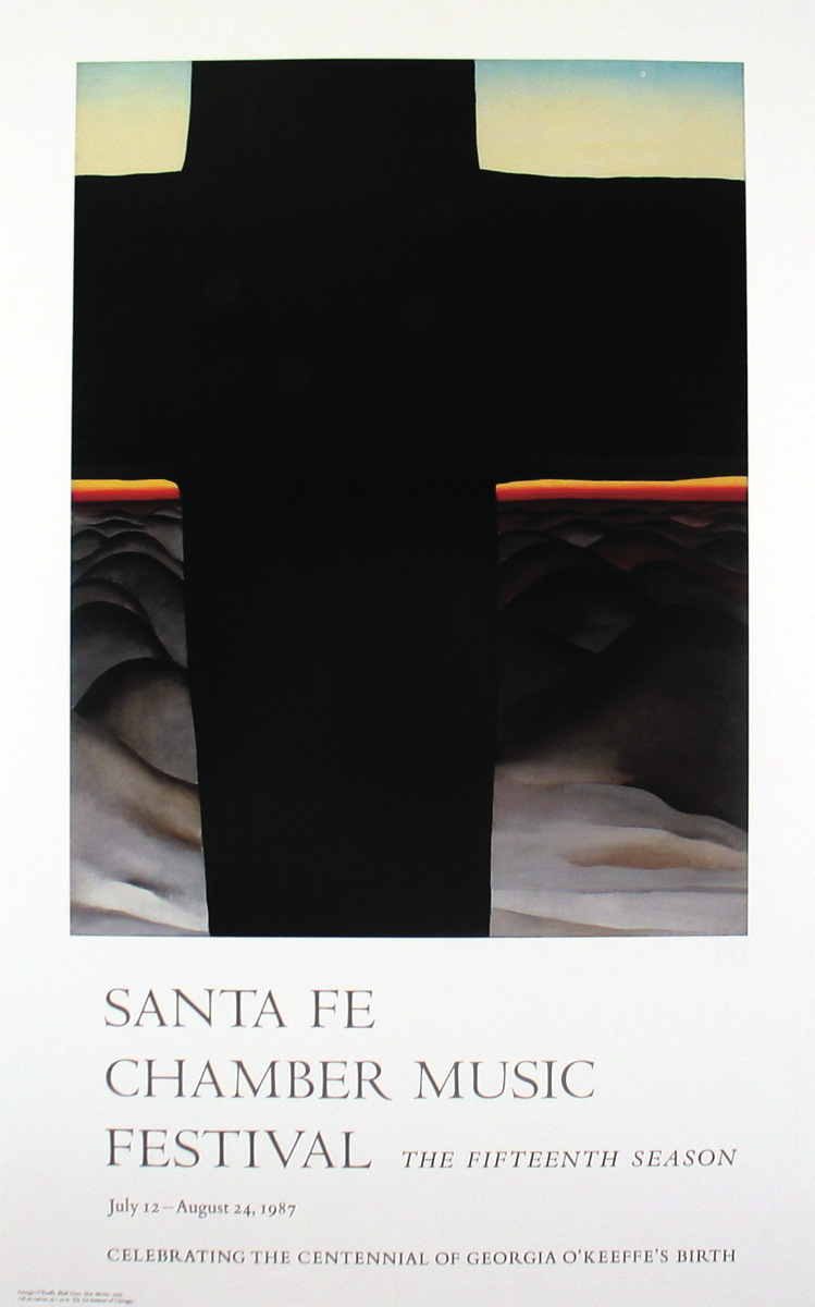 Georgia O'Keeffe - Black Cross: New Mexico - 1987