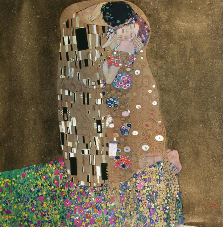 Gustav Klimt - The Kiss - 1982