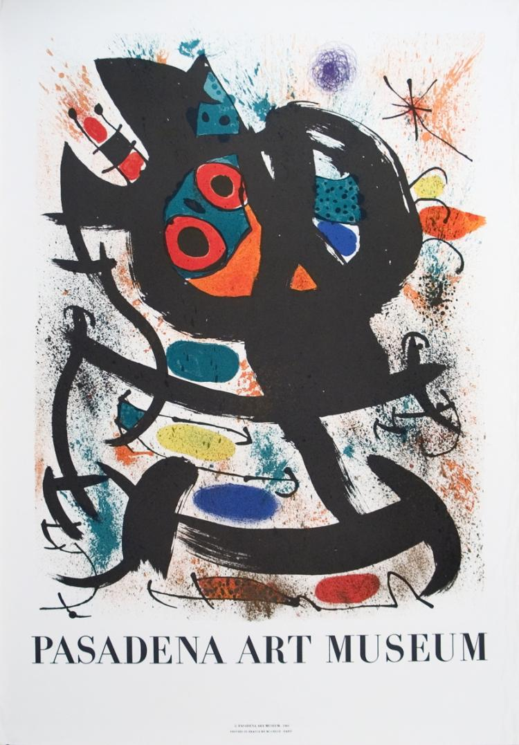 Joan Miro - Pasadena Art Museum Exhibition - 1969