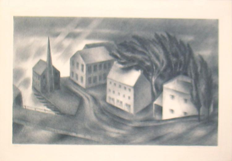 Albert Heckman - Wind and Rain - 1938 - SIGNED