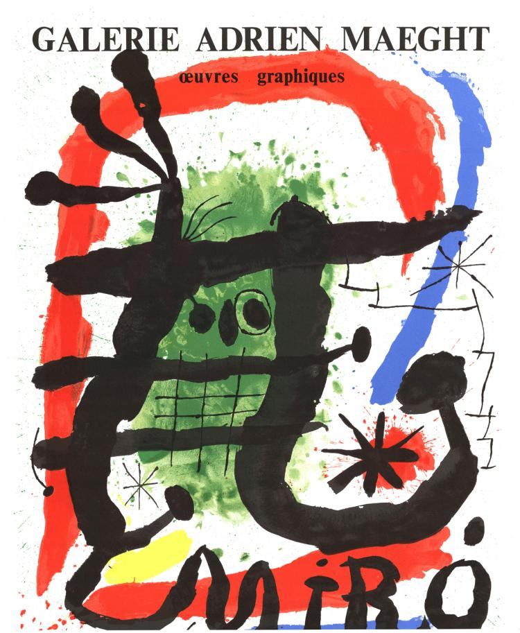 Joan Miro - Galerie Adrien Maeght, Oeuvres Graphiques