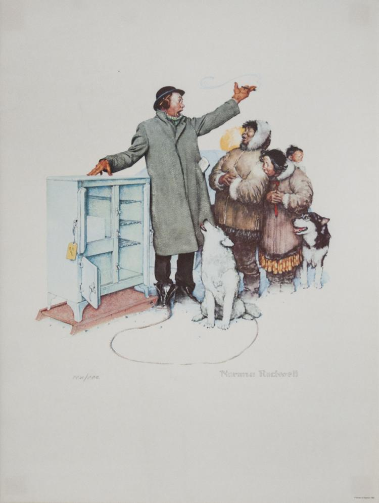 Norman Rockwell - The Expert Salesman - 1962