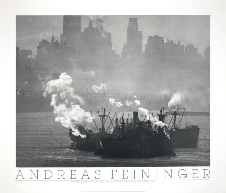 Andreas Feininger - Lower Manhattan and the Hudson River, NY (1950) - 1988