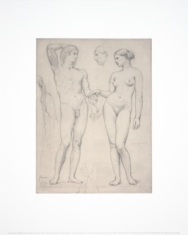 Dominique Ingres - Adam and Eve- Study for