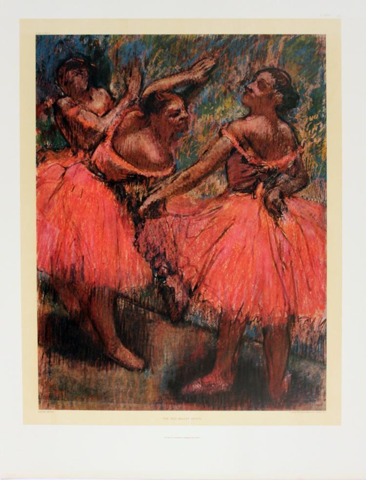 Edgar Degas - The Red Ballet Skirts