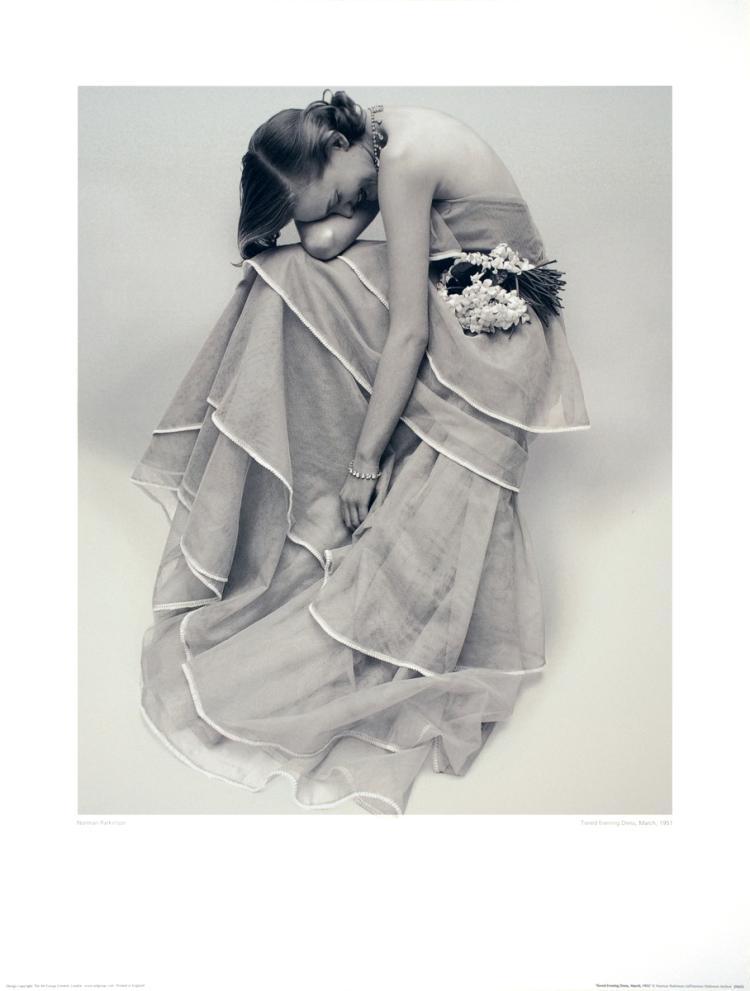 Norman Parkinson - Tiered Evening Dress - 1986