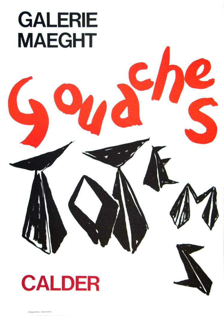 Alexander Calder - Gouaches Et Totems - 1966