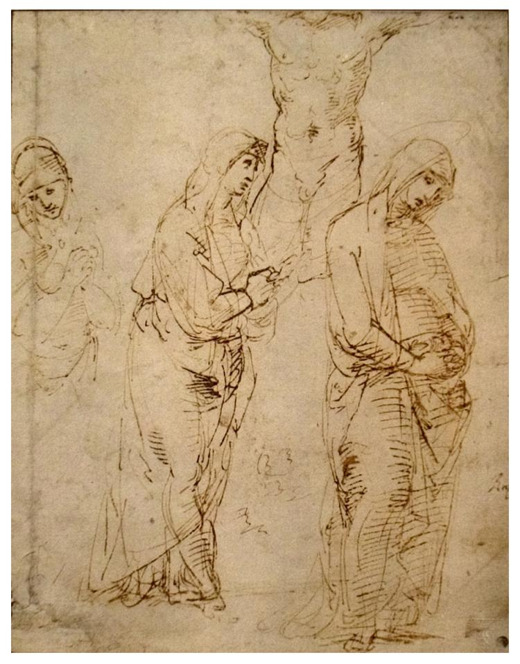 Rafaele Santi - Three Studies for the Virgin at the Foot of the Cross