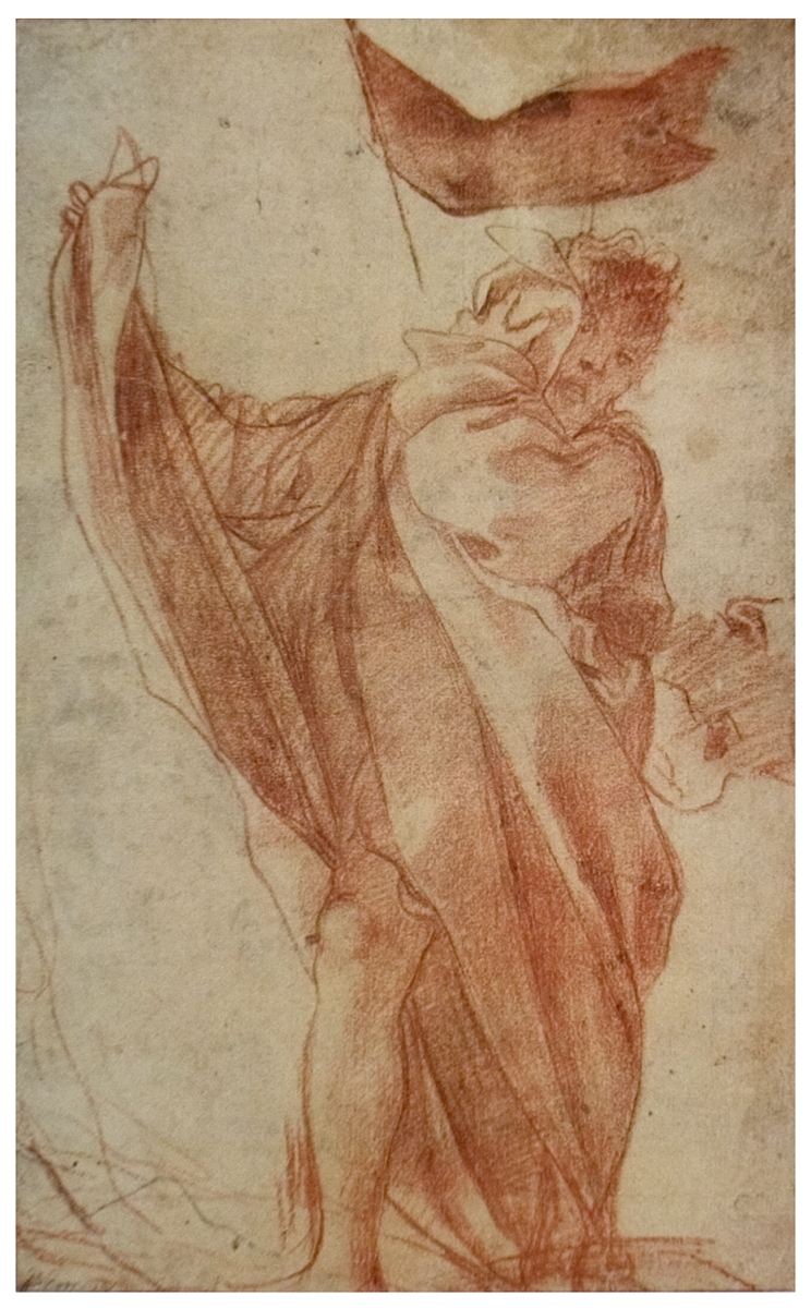 Antonio Allegri Da Correggio - Study for One of the Two Apostles - 1930