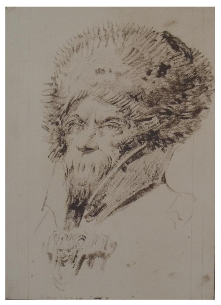 Giovanni Batista Tiepolo - Study of a Cossack's Head