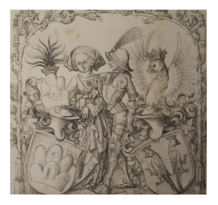 The Master of the Hausbuch - The Arms of A Married Couple